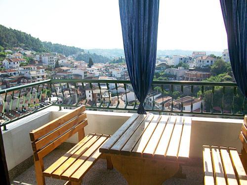 Balkón alebo terasa v ubytovaní Hoxha rooms
