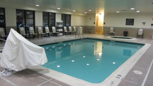 The swimming pool at or near Hampton Inn Topeka