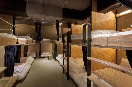 A bunk bed or bunk beds in a room at Ximen Wow Hostel