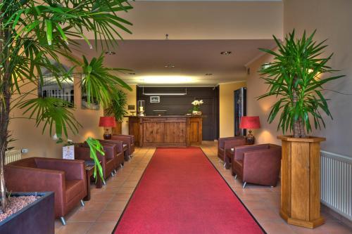 Lobby/Rezeption in der Unterkunft Wildeshauser Hof Hotel Huntetal
