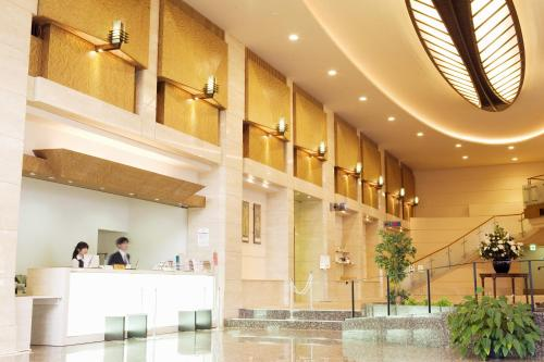 The lobby or reception area at Wakayama Urban Hotel