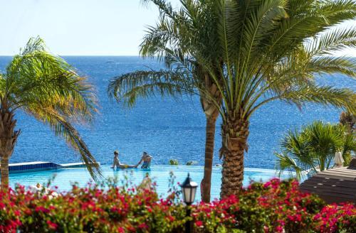 Uma vista do mar geral ou uma vista do mar a partir do resort