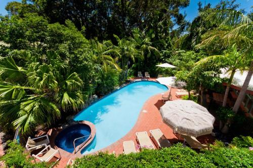 The swimming pool at or near Shelly Beach Resort
