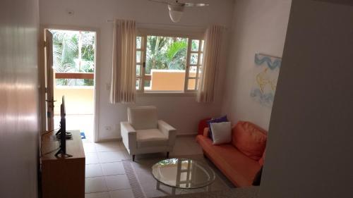 Uma área de estar em Amarilis Flat Service - Apto duplex