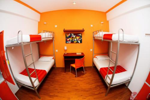 A bunk bed or bunk beds in a room at CityRest Fort