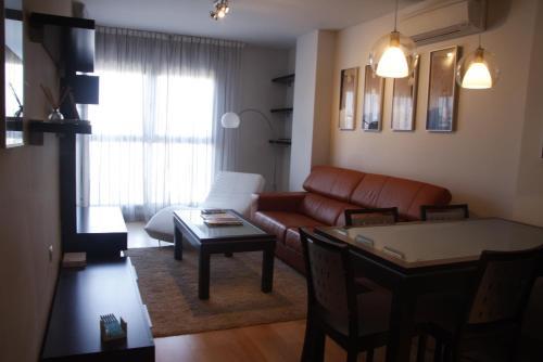 A seating area at Apartmento Avda Madrid
