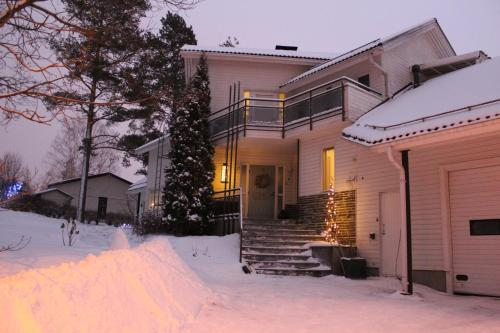 Apartment Lumikontupa during the winter