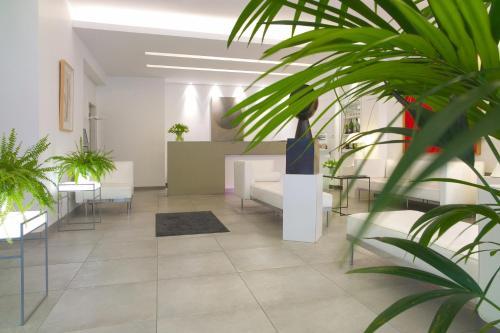 El vestíbulo o zona de recepción de Hotel Simoncini