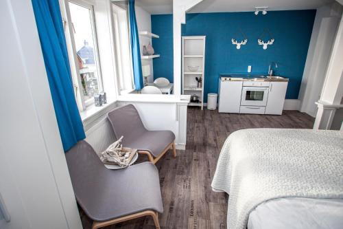 Ein Sitzbereich in der Unterkunft Short Stay Zandvoort