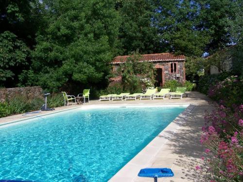 The swimming pool at or near Manoir de la Thébline
