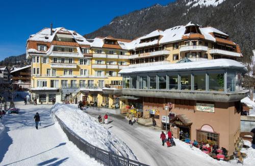 Hotel & Spa Silberhorn Wengen during the winter