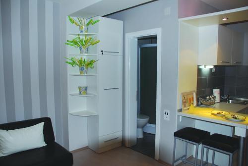 A bathroom at Chanovi apartments