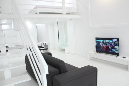 A television and/or entertainment center at Luxury Apartments