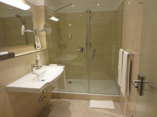 Ванная комната в Hotel Ludwig im Park