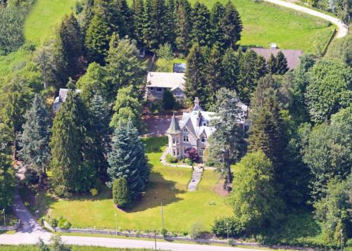 A bird's-eye view of Tigh na Sgiath Country House Hotel