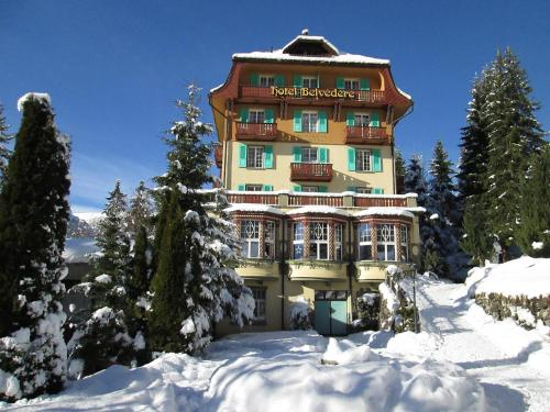 Hotel Belvédère during the winter