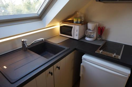 A kitchen or kitchenette at 't Valkennestje