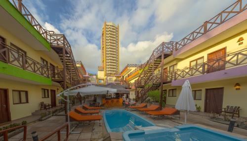 The swimming pool at or near Apart Hotel Serantes
