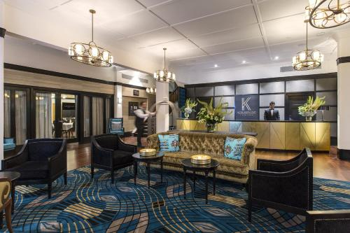The lobby or reception area at Hotel Kurrajong Canberra