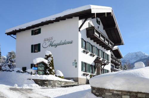 Haus Magdalena during the winter