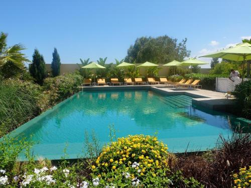 A view of the pool at Les Cyprès or nearby