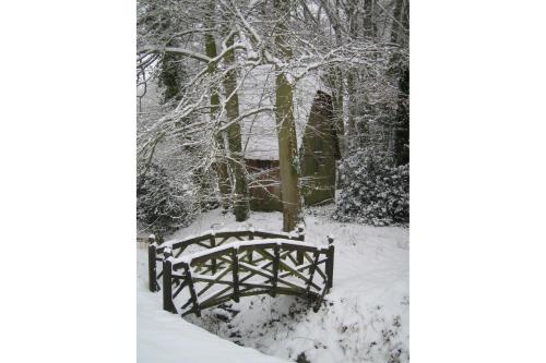 Bulmer Tye House during the winter
