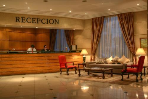 El vestíbulo o zona de recepción de Hotel Costa Real