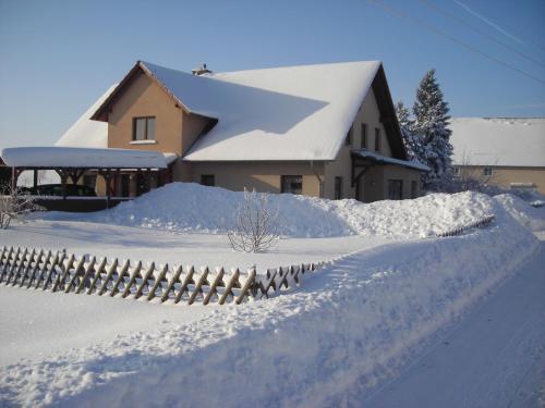 Ferienwohnung Gisela Kästner Stolpen im Winter