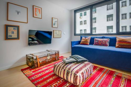 A seating area at Lisbon Serviced Apartments - Liberdade