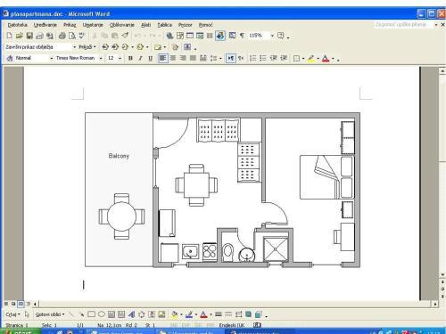 The floor plan of Apartments Terezija