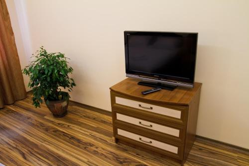 """A television and/or entertainment center at Apartments """"The cultural capital"""""""