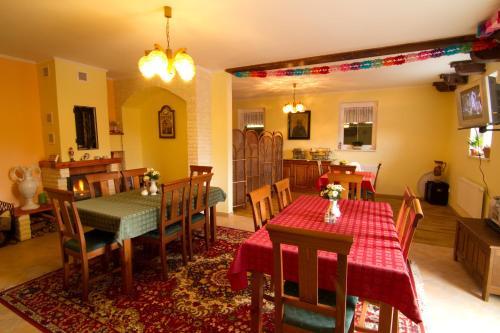 A restaurant or other place to eat at Ubytování Edita
