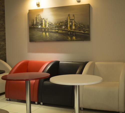 A seating area at Baranlar Hotel