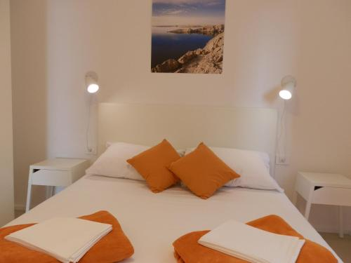 Кровать или кровати в номере Apartments Ban