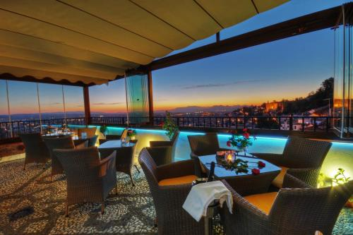Restaurant ou autre lieu de restauration dans l'établissement Hotel Mirador Arabeluj