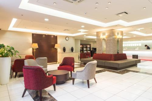 The lobby or reception area at Hotel Hokke Club Sapporo