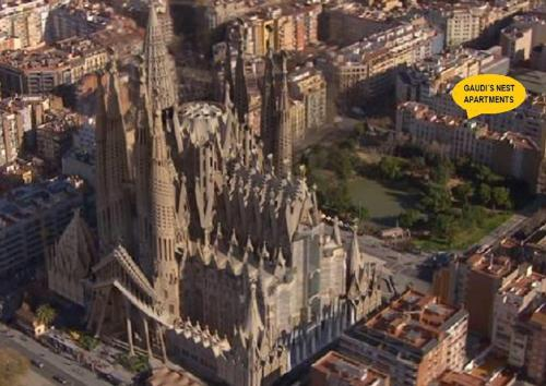 A bird's-eye view of Gaudi's Nest Apartments