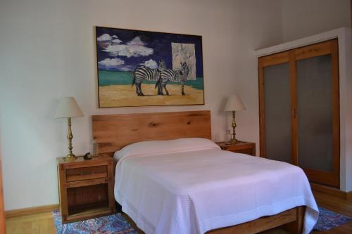 Cama o camas de una habitación en Hotel Casa Catalina