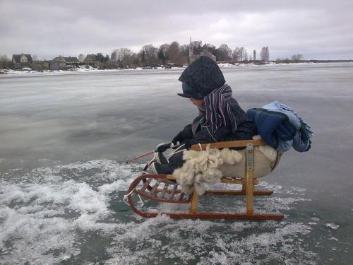 Vaino Turismitalu during the winter