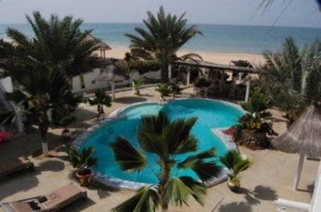 A view of the pool at Coeur Sénégal or nearby