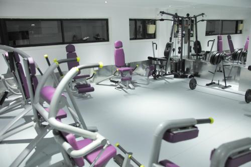 The fitness centre and/or fitness facilities at Achilleos City Hotel
