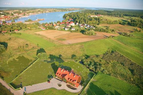 A bird's-eye view of Hotelik Mazurska Chata-BONY,restauracja, blisko aqapark, centrum,jezioro