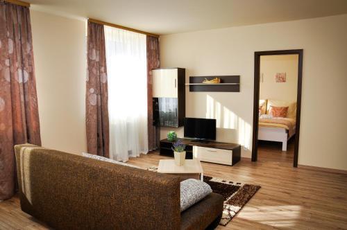Posezení v ubytování Apartmany Fonte