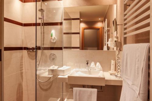 Ein Badezimmer in der Unterkunft Hotel Panorama