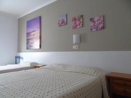 Cama o camas de una habitación en Pensió Torrent