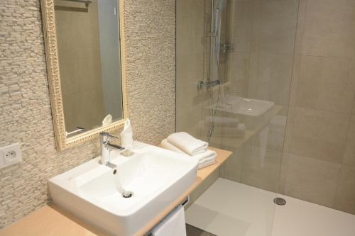 Ein Badezimmer in der Unterkunft Bed&Bike Berliner Hof