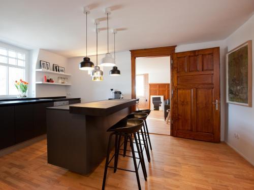 Küche/Küchenzeile in der Unterkunft Boutique Apartments Bezau
