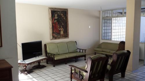 A seating area at Hotel Gaivota