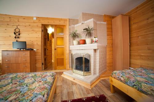A television and/or entertainment centre at Guest House Russky Dom