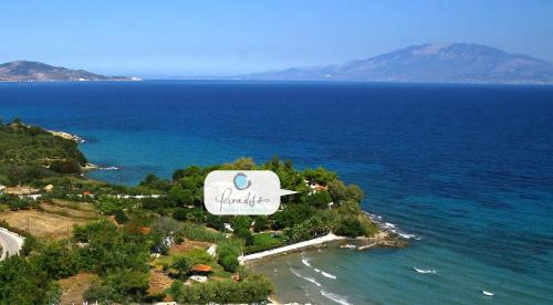 A bird's-eye view of Paradisso Beach Villas
